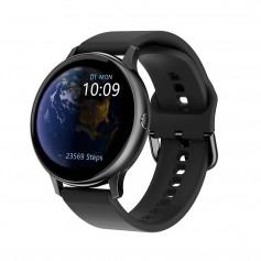 DrPhone DTX Retina Display - SmartWatch - Touch Screen IP68 Waterdicht - Hartslagmeter - Bloeddrukmeter - Siliconen - Zwart