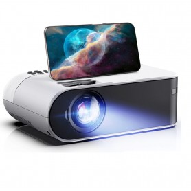 DrPhone W18D - Beamer - Android - LED Projector - 3D - Thuis Theater - Wit