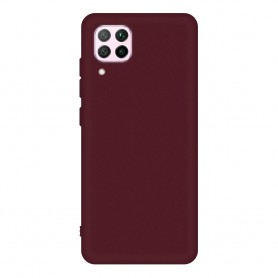 DrPhone HP1 - Huawei P40 Lite- Zachte silicoon - Matte Rood - Telefoon hoes - Antislip grip - TPU