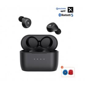 DrPhone Predator Pro – In Ear Gaming Oortjes- APTX – Noise Cancel – Draadloos Opladen -Water Proof - Zwart