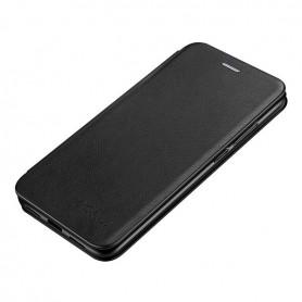 DrPhone HL4 - Leer/TPU - Huawei P40 - Flip Cover - Pasjeshouder – Zwart