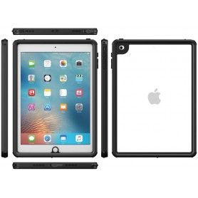 DrPhone iPad 9.7 inch 2017/2018 - Waterproof Case - 360 graden - Stof/sneeuwdicht - Zwart