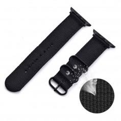 DrPhone SWB1 - Smart Watch Bandje - Roestvrij Staal Gesp - Nylon - Apple watch - 38mm - 40mm - Groen
