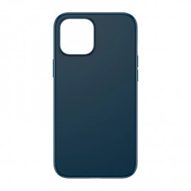 DrPhone IPS1 - Siliconen - Beschermhoes - Anti Vingerafdruk - iPhone 11 - Donkerblauw