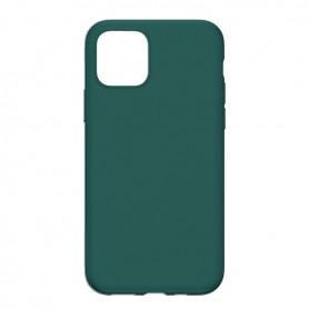 DrPhone IPS1 - Siliconen - Beschermhoes - Anti Vingerafdruk - iPhone 11 - Donkergroen
