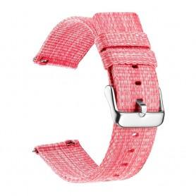 DrPhone SMB03 - Smart Watch Bandje - Nylon - Gesp Sluiting - 22mm - Roze