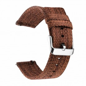 DrPhone SMB03 - Smart Watch Bandje - Nylon - Gesp Sluiting - 20mm - Bruin