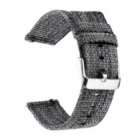 DrPhone SMB03 - Smart Watch Bandje - Nylon - Gesp Sluiting - 22mm - Grijs