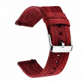 DrPhone SMB03 - Smart Watch Bandje - Nylon - Gesp Sluiting - 22mm - Rood