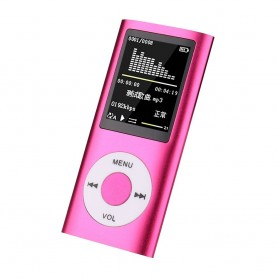 DrPhone X7 Mp3 Mp4 – Audio Speler – AUX – LCD Display - Audio Media Speler + Oordoppen - Roze