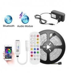 Drphone AG01 - Led strip - Multi Kleur - 5050 SMD - Waterproof - App Controle - Afstandbediening - Bluetooth audio - 5 Meter