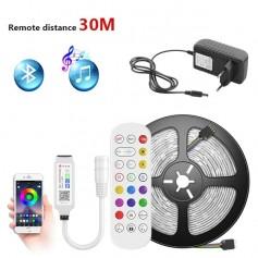 Drphone AG01 - Led strip - Multi Kleur - 5050 SMD - Waterproof - App Controle - Afstandbediening - Bluetooth audio - 10 Meter