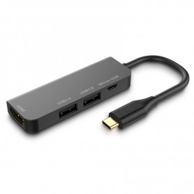 DrPhone DEX5 - Thunderbolt 3 Mini USB-C Hub naar HDMI / USB 3.0 - Nintendo Switch - Zwart