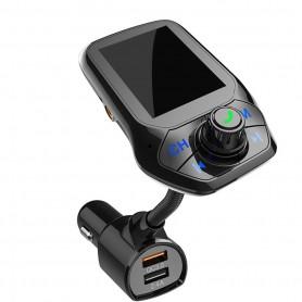 DrPhone BC25 - Draadloze Bluetooth Oplader - USB 5.0 Auto Oplader - Bluetooth Adapter - 5V/2.4A Usb Charger - Zwart