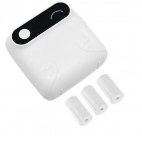 DrPhone PiX Pro + 3 Rollen - Telefoon Afdrukken - Bluetooth Printer - Draagbare Mini Printer - 57mm Label - Kinderen - Wit