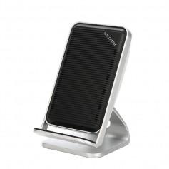 DrPhone 2COILS - Draadloos Opladen – 10W - 1.5 Times Faster – Led Licht - Micro USB – Grijs
