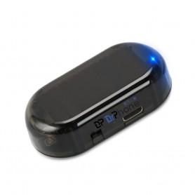 DrPhone Alarm licht - Voor in de auto - Werkt op zonne-energie - Autoalarm - Blauw