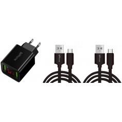 DrPhone PS5-X - Oplaadset voor PS5 Controller - 2x 1 Meter oplaad kabel - Playstation 5 Controller - Dock