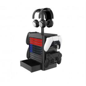 DrPhone MGST2 Multifunctionele Torenhouder – Opbergbox voor Spellen/Controllers/ Headset & Accessoires - Zwart