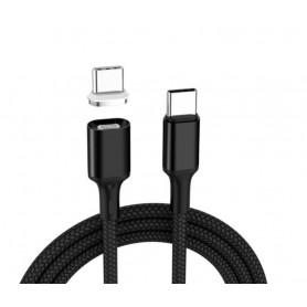 DrPhone TITAN3 - Magnetisch USB-C Kabel 5A TYPE-C - 100W 20V 5A - Data Transfer + Snel Laden - Macbook / Smartphone