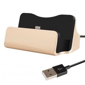 DrPhone DS1 - Oplader - Docking Station - Synchroniseren - Lightning - Goud