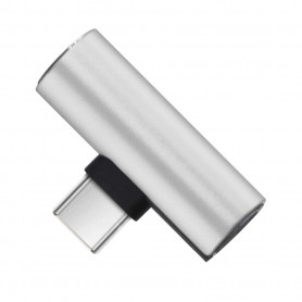 Drphone DAC1 - USB-C Duo Adapter - Converter - USB-C Naar Mini Jack + USB-C - Zwart