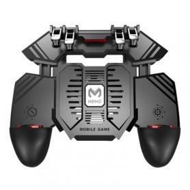 DrPhone GX7 Mobiele Game Controller - 4 Triggers [6 Vingerbediening] - Shooter Trigger Koelventilator - Power Bank (1200 mAh)