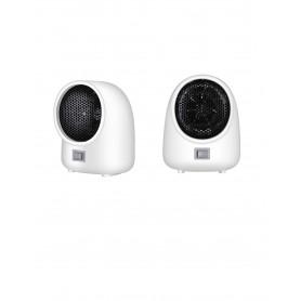 DrPhone MFH1 - Wit - Verwarming - ABS - 400W - natuurlijke windvoorziening - goede warmte-efficiëntie - laag geluidsniveau