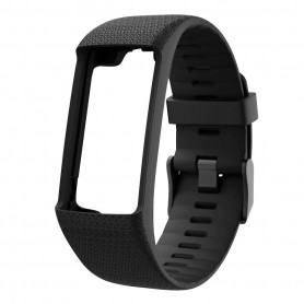 DrPhone SH1 Siliconen Horlogeband - Sportarmband Geschikt voor Polar A360 & A370 – Zwart