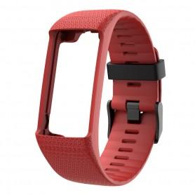 DrPhone SH1 Siliconen Horlogeband - Sportarmband Geschikt voor Polar A360 & A370 – Rood