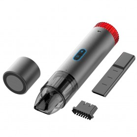 DrPhone VC1 Draagbare Draadloze Hand Stofzuiger met LED & Noodknipper lichten - 60W - Grijs