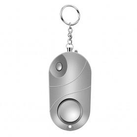 DrPhone KH1 - Zelfverdedigings apparaat - mini LED knop - Zilver - 120-130dB - ABS - Alarm
