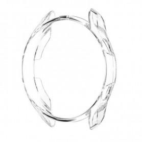 DrPhone SGW - Samsung Galaxy Watch 3 / 41mm - Extra Dun - FLexibele Bumper - Zilver