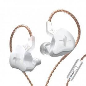 DrPhone M10 In-Ear Magnetische Oordoppen – 3.5 mm - Microfoon – HiFi – Goed geluid - Wit