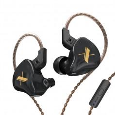 DrPhone KZ10 In-Ear Magnetische Oordoppen – 3.5 mm - Microfoon – HiFi Audio Geluid - Ergonomische In-Ear Earbuds - Zwart
