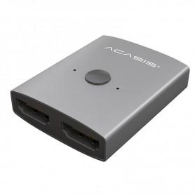 ACASIS 4K 30HZ bidirectionele schakelaar HDMI 2.0 1X2 - 2X1 Splitter – Switch- Dubbele Scherm Converter Adapter - Grijs