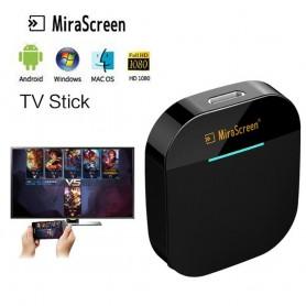 DrPhone WDR6 - 4K Draadloze HDMI WiFi Dongle - TV Ontvanger - Miracast Airplay - Windows / Mac / Laptop / iPhone - Zwart