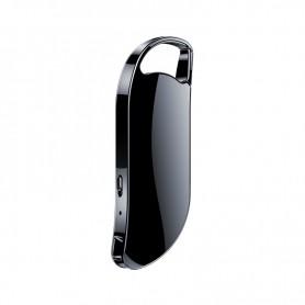 DrPhone DVR Digitale Spraakgestuurde Recorder – Sleutelhanger - Spraakrecorder - Audiorecorder – 64GB- Zwart