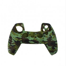 DrPhone PS5 Controller Siliconen Cover – PS5 – Playstation 5 – Beschermhoes – Console - Camo Groen