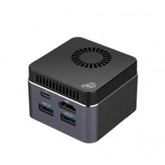 Elementkey iniX - Ultra Klein Mini PC - Intel Celeron J4125 2.7Ghz - 8GB RAM + 256GB SSD - Zwart
