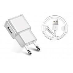 10W Gecertificeerde DrPhone® - USB Lader Stekker Oplader + Kabel - iPad en iPhone - 1 Meter