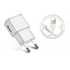 10W Gecertificeerde DrPhone® - USB Lader Stekker Oplader + 3 Meter Kabel - iPad en iPhone