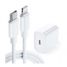 DrPhone - Lunar Pro series - 18W Oplader - 2 Meter USB-C naar Lightning Kabel 5V Lader - Geschikt voor iPhone en iPad