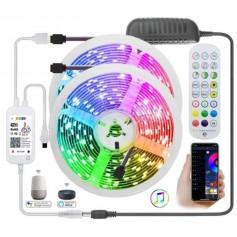 Drphone AG01 - Led strip - RGB - Wifi - Draadloos - Amazon Alexa - Google Home - Smart Life - Tuya - 5 METER - App Bediening