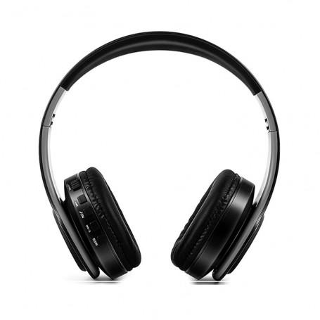 DrPhone Draadloze Bluetooth Koptelefoon met 4 functies - SD kaart - FM - AUX - Handsfree Met Microfoon & Diepe Bass - Wit/Rose