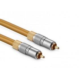 DrPhone DCA RCA Male naar Male Digitale Coaxiale Audio Video SPDIF Kabel - Goud/Zilver – 1M