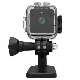 DrPhone SQ Series - Mini WiFI Camera - 2MP Waterdichte Sport Recorder - Full HD 1920x1080 - Super Wide Lens 155° - Zwart
