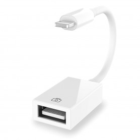 DrPhone Lightning naar USB Camera-adapter - Lightning naar USB 3.0 Vrouwelijke adapterkabel met USB Power Interface Data