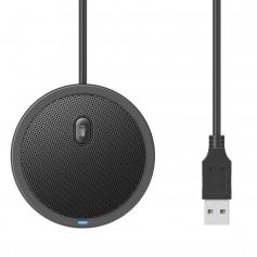 DrPhone ConferX2 USB-conferentiemicrofoon - Omnidirectionele Condensator – Zwart