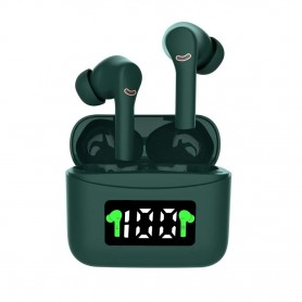 DrPhone G3 Earphone – Bluetooth – Oplaadcase – IOS & Android – Compact – Draadloos – Groen